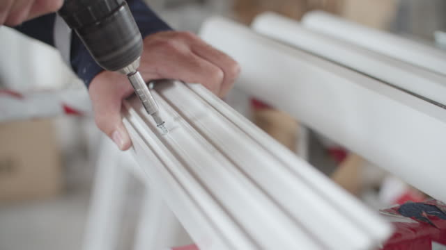 pvc windows and doors industry - pvc stock videos and b-roll footage