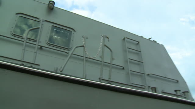 windows and doors on patrol boat - ship's bow stock videos & royalty-free footage