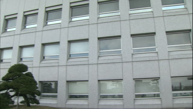 windows cover the facade of the niigata prefectural assembly office in japan. - 建物の正面点の映像素材/bロール