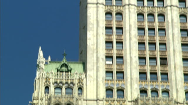 windows cover the facade of the woolworth building in new york city. - woolworth building stock videos & royalty-free footage