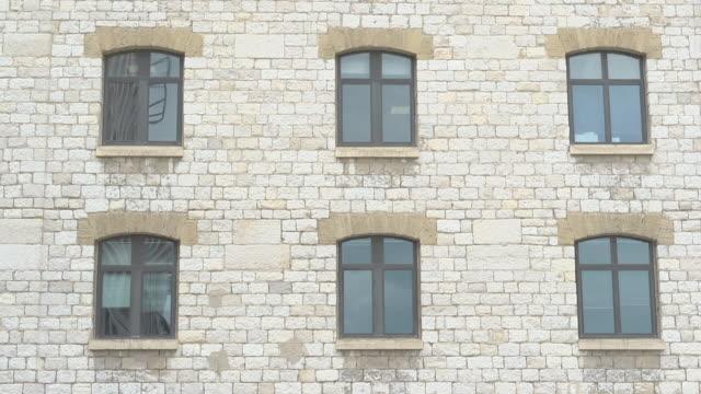 windows of Les Docks