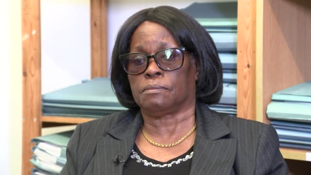 Windrush mother blames immigration problems for her son's death Sentina Bristol interview SOT Close shot of Sentina Bristol Sentina Bristol and...
