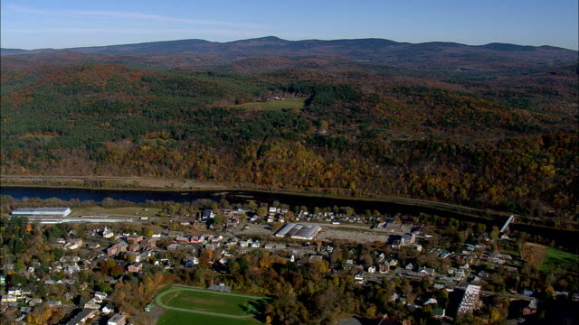 windsor  - aerial view - vermont,  windsor county,  united states - vermont stock videos & royalty-free footage