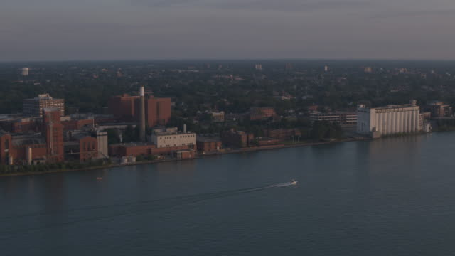windsor canada waterfront aerial - ontario canada stock videos & royalty-free footage