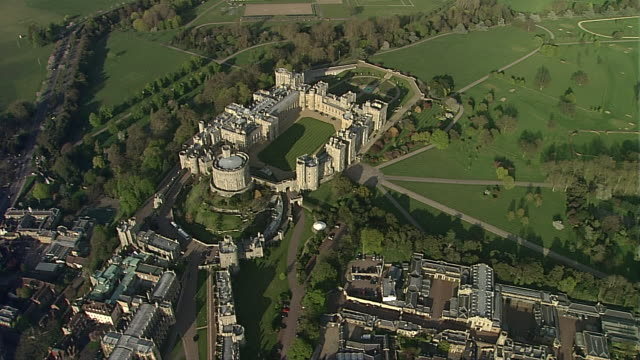 windsor castle 3 - berkshire england stock videos and b-roll footage