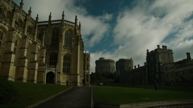windsor castle and st george's chapel interiors and general views ext general views st george's chapel exteriors / windsor castle / windsor great... - windsor england stock videos and b-roll footage