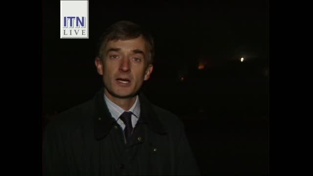 early evening news pab; england: london: gir: int john suchet live studio england: berkshire: windsor: ext / night robin white live 2-way london:... - itv news at five stock videos & royalty-free footage