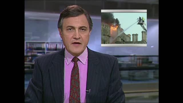 early evening news pab; england: london: gir: john suchet live studio - itv news at five stock videos & royalty-free footage