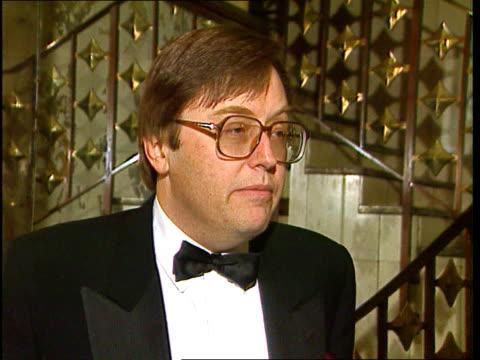Windsor Castle Fire ITN Location Unspecified CMS David Mellor MP intvwd SOF lamentable carelessness