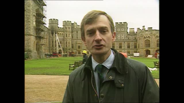 weekend late news pab; england: berkshire: windsor castle: ext cms alan williams mp intvwd sof - when so many people are being made redundant because... - ダーモット・マーナハン点の映像素材/bロール