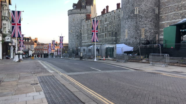 windsor castle on may 20, 2018 in windsor, england. - berkshire england stock videos & royalty-free footage