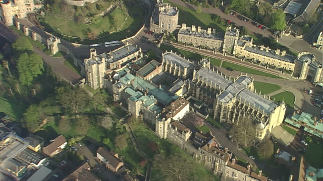 aerial windsor castle - windsor castle stock videos and b-roll footage
