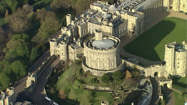 aerial cu windsor castle - windsor castle stock videos & royalty-free footage