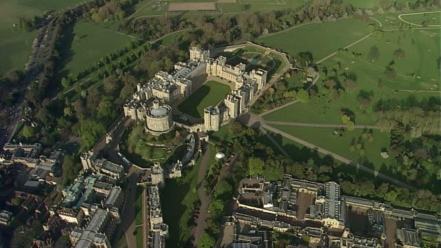 aerial cu windsor castle - windsor castle stock videos and b-roll footage