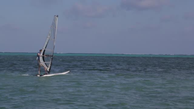 Windsurfer sails in Belize