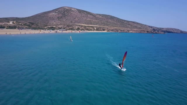 Windsurfers In Action