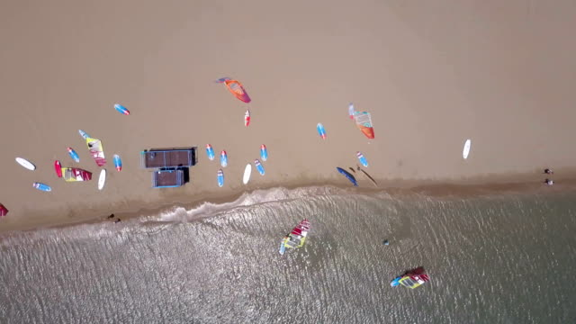 Windsurfing Camp From Above