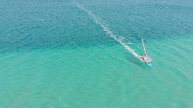windsurfing - outdoor pursuit stock videos & royalty-free footage