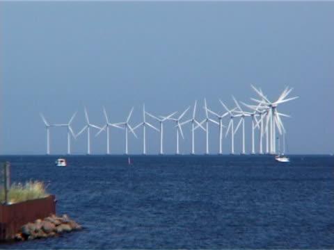 Windturbines at Middelgrunden near Copenhagen, Denmark