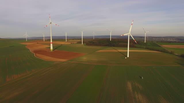 Windturbines near Kirf, Saargau, Rhineland-Palatinate, Germany