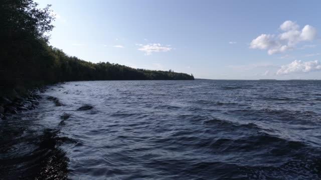 windy lakeshore - lakeshore stock videos & royalty-free footage