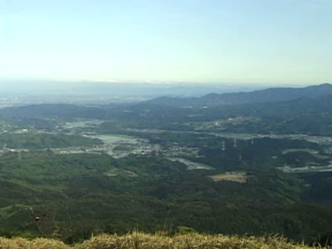 windy mountain top in japan (ntsc - hügelkette stock-videos und b-roll-filmmaterial