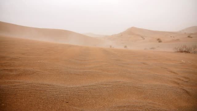 windy sand dune - iran stock videos and b-roll footage