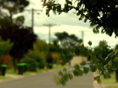 windy street, melbourne, australia - telephone line stock videos & royalty-free footage
