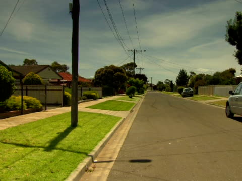 windy street, melbourne, australia - suburban stock videos and b-roll footage