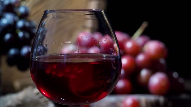 wine and grapes - wine cask stock videos and b-roll footage