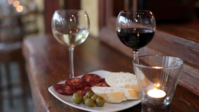 wine and tapas - tapas stock videos & royalty-free footage