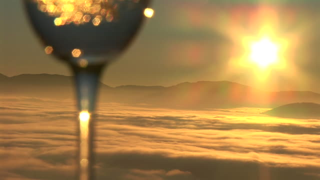 hd: wine at sunrise - wineglass stock videos & royalty-free footage