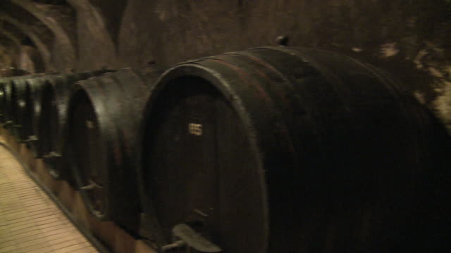 wine barrel - wine cellar stock videos and b-roll footage