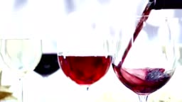 Wine being poured in slow motion