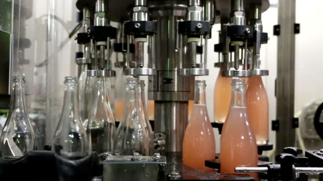 wine bottles bottling automation machinery - rose wine stock videos and b-roll footage