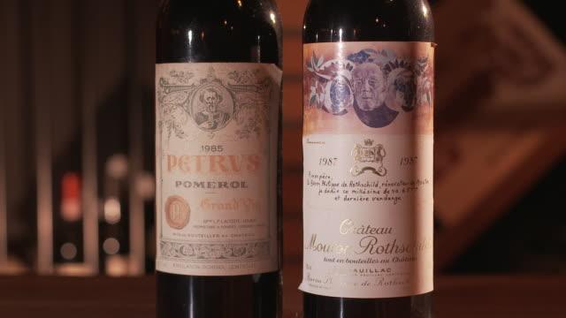 Wine bottles with unique labeling
