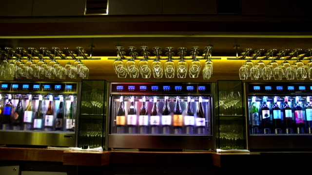 wine cooler in restaurant