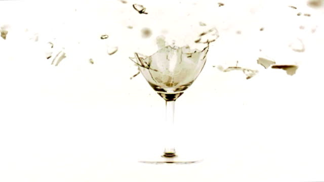 wine glass shattering slow motion - wineglass stock videos & royalty-free footage