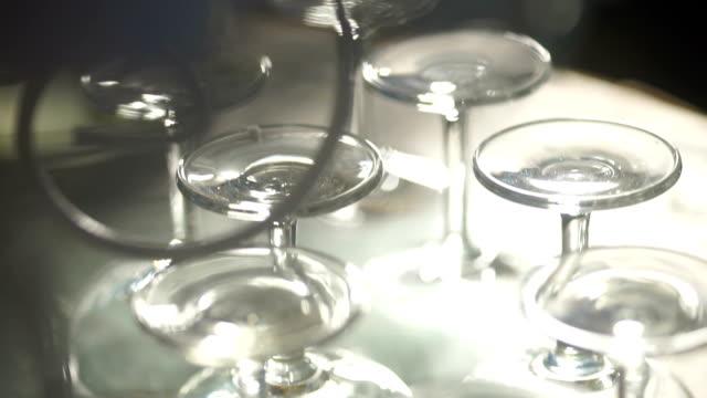 Wein Gläser auf einem Tisch