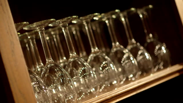 wine glasses - storage compartment stock videos and b-roll footage