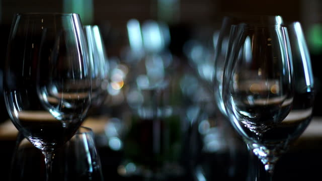 wine glasses - bar drink establishment stock videos & royalty-free footage