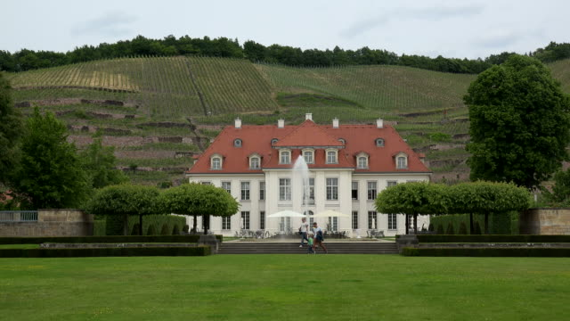 Wine growing estate Wackerbarth Palace in Radebeul, Niederloessnitz, Saxony, Germany