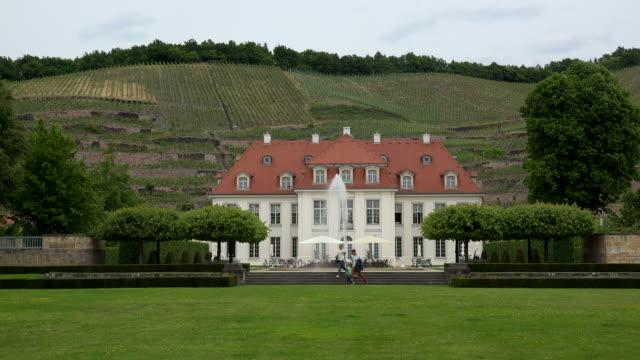 vidéos et rushes de wine growing estate wackerbarth palace in radebeul, niederloessnitz, saxony, germany - façade