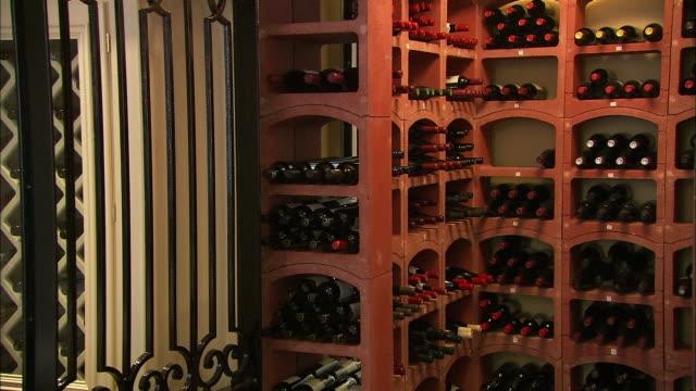 Wine in racks in cellar, Northern Ireland
