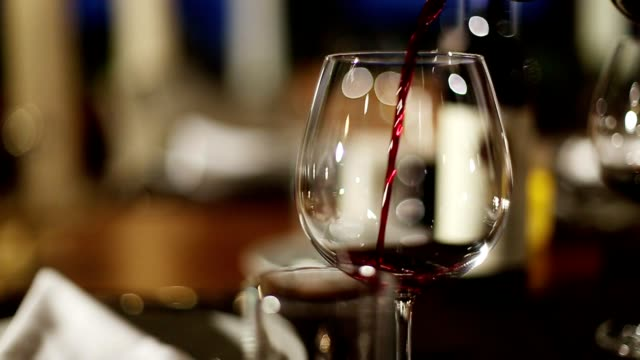 wine pouring fine dining restaurant - alcohol drink stock videos & royalty-free footage