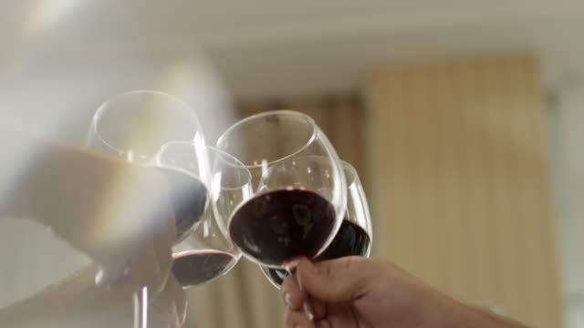 wine toast - wine glass stock videos and b-roll footage
