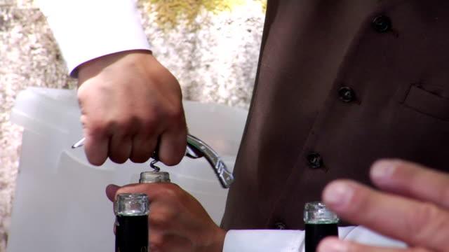 wine - corkscrew stock videos & royalty-free footage
