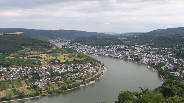 wine village of boppard - river rhine stock videos and b-roll footage