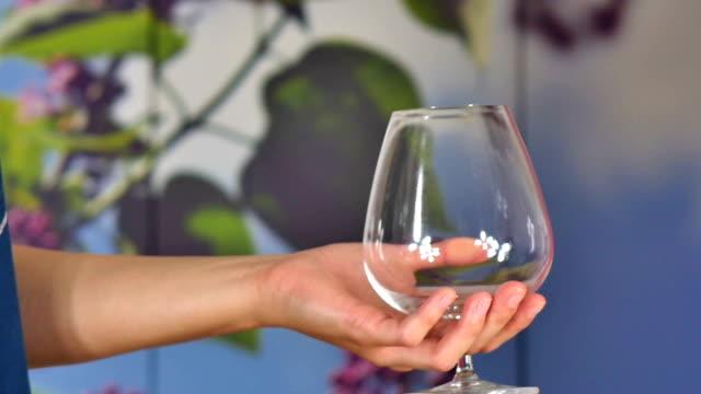 vídeos y material grabado en eventos de stock de copa de vino con vino - uva cabernet sauvignon