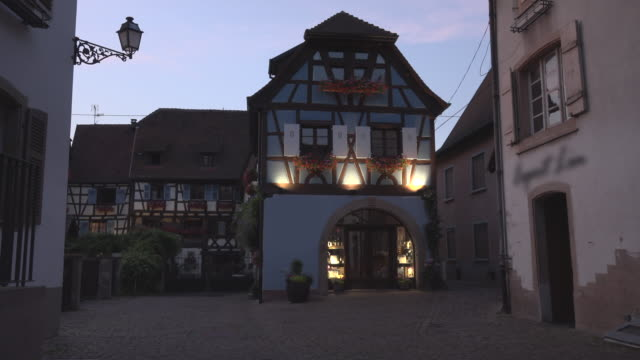 winery in half-timbered house at night - timber stock videos & royalty-free footage